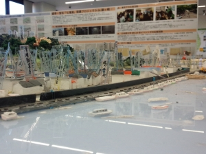 立命館大学の学生が制作したジオラマ「記憶の街」