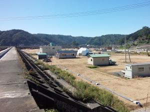 現在の堤防から見た景色