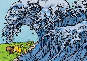 津波の場面