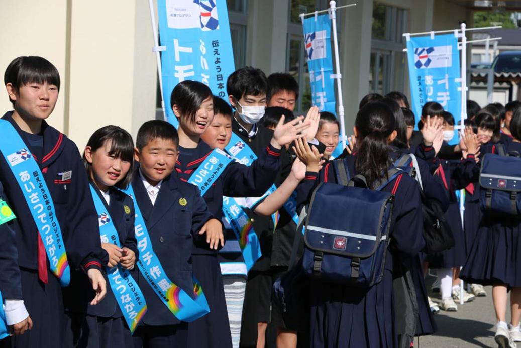 福島県では初!「あいさつで、みんなつながろトモダチ作戦」スタート